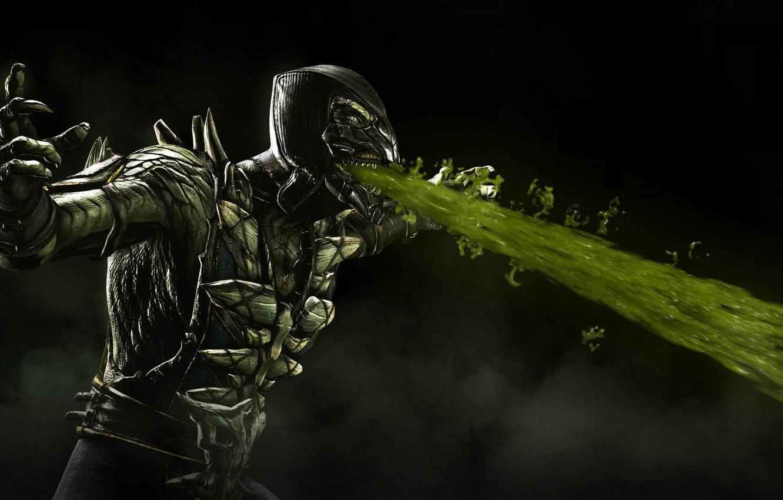 Photo wallpaper Mortal Kombat, Reptile, Warner Bros. Interactive Entertainment, NetherRealm Studios, Mortal Kombat X