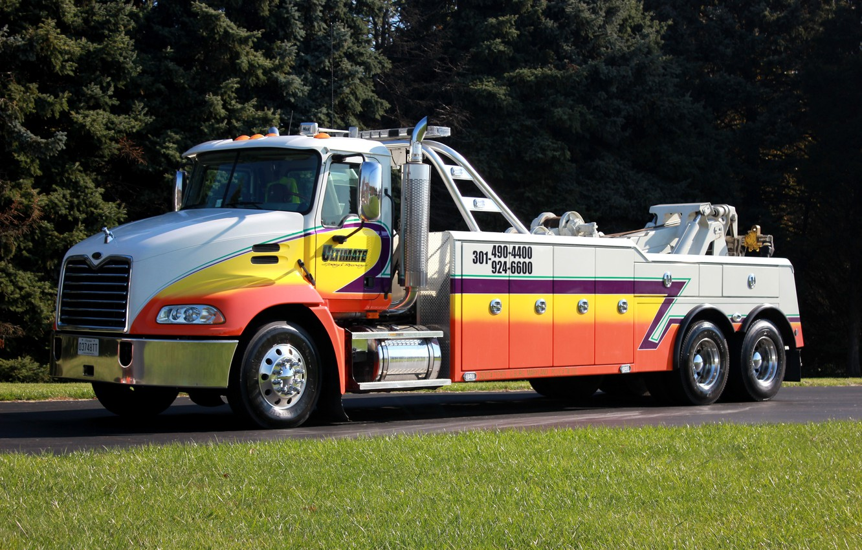 Photo wallpaper car, coloring, technical equipment, special vehicle, «Mack», MAK