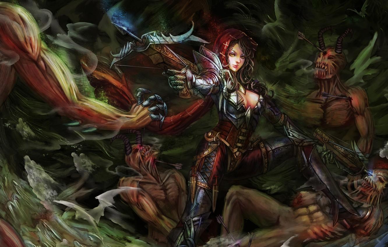 Wallpaper Girl Diablo 3 Art Demon Hunter Images For Desktop