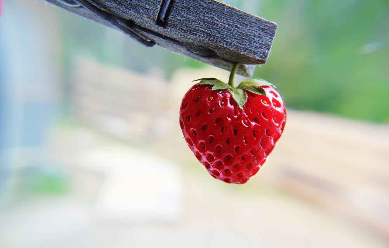 Photo wallpaper heart, strawberry, presepe