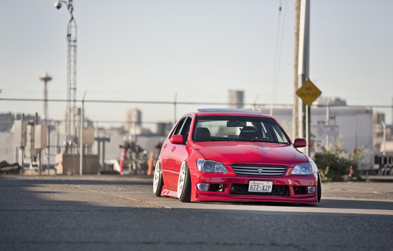 Photo wallpaper red, Lexus, red, tuning, Lexus, is200