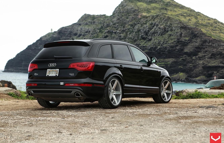 Photo wallpaper Audi, Audi, jeep, wheels, vossen