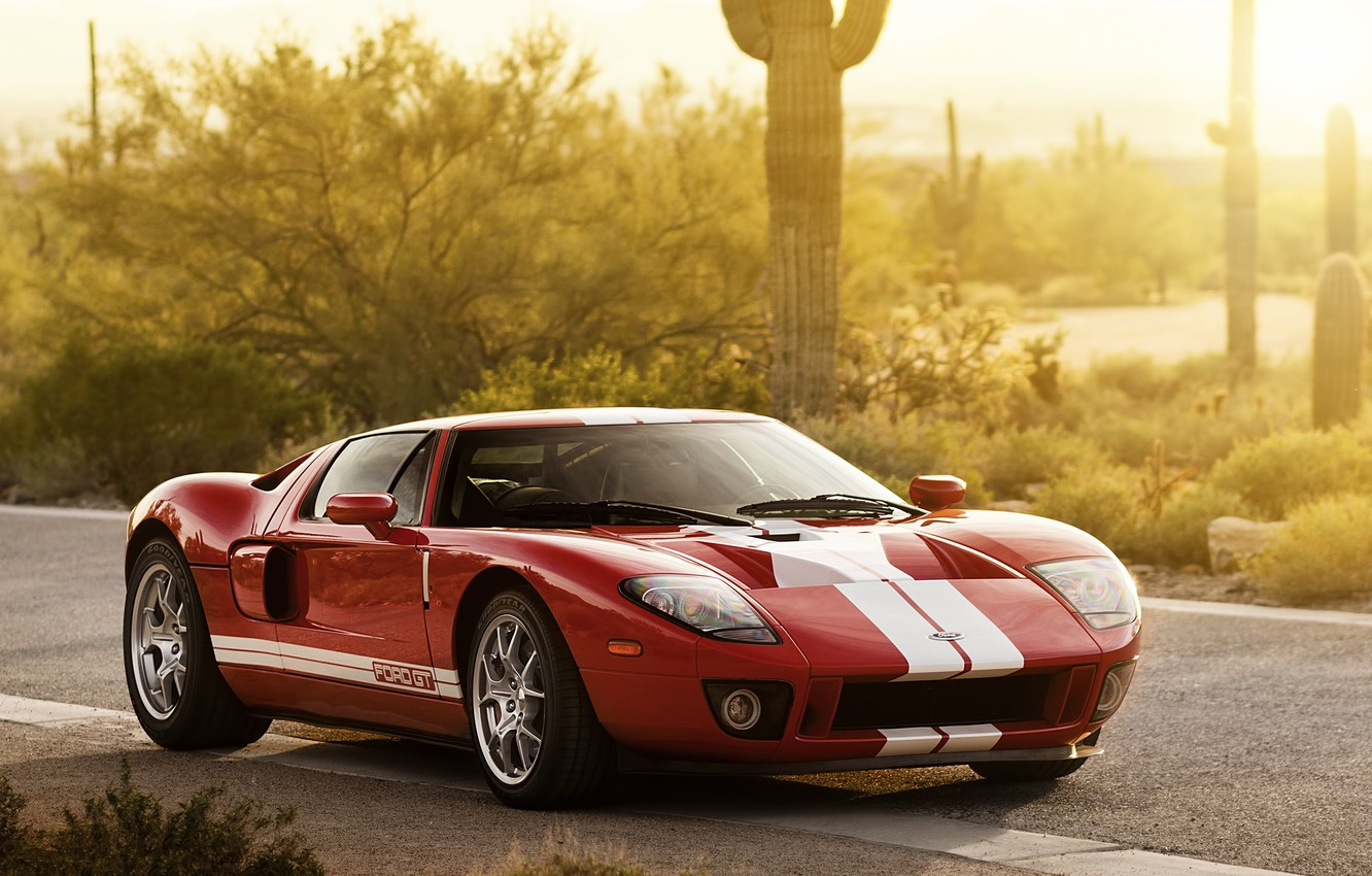 Photo wallpaper Ford, Red, 2005