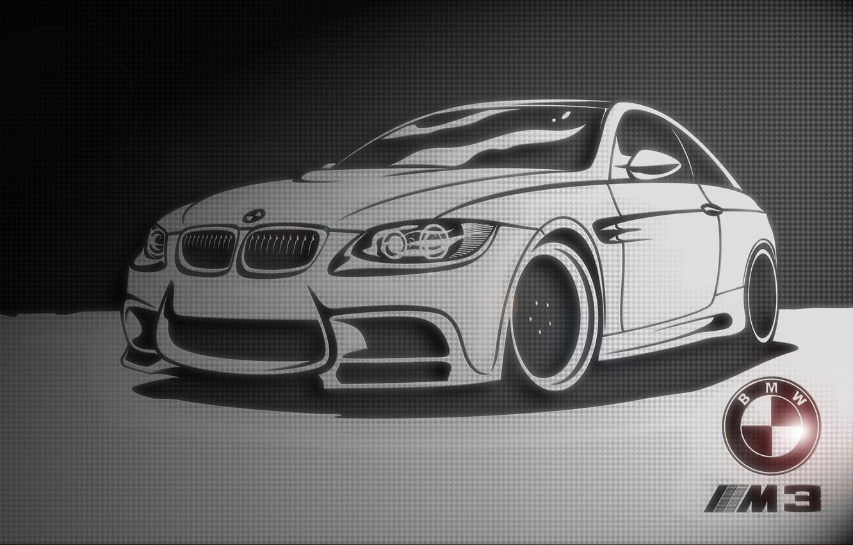 Photo wallpaper black and white, texture, BMW, Car