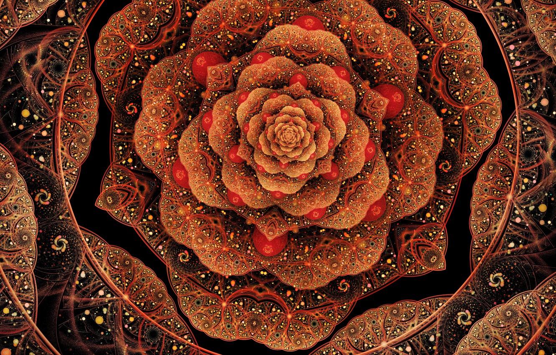 Photo wallpaper flower, patterns, petals, art, fractal
