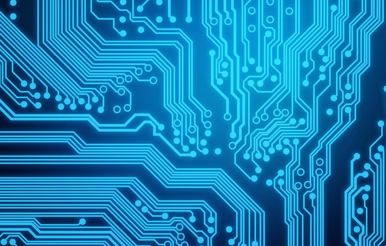 Photo wallpaper blue, background, circuit board