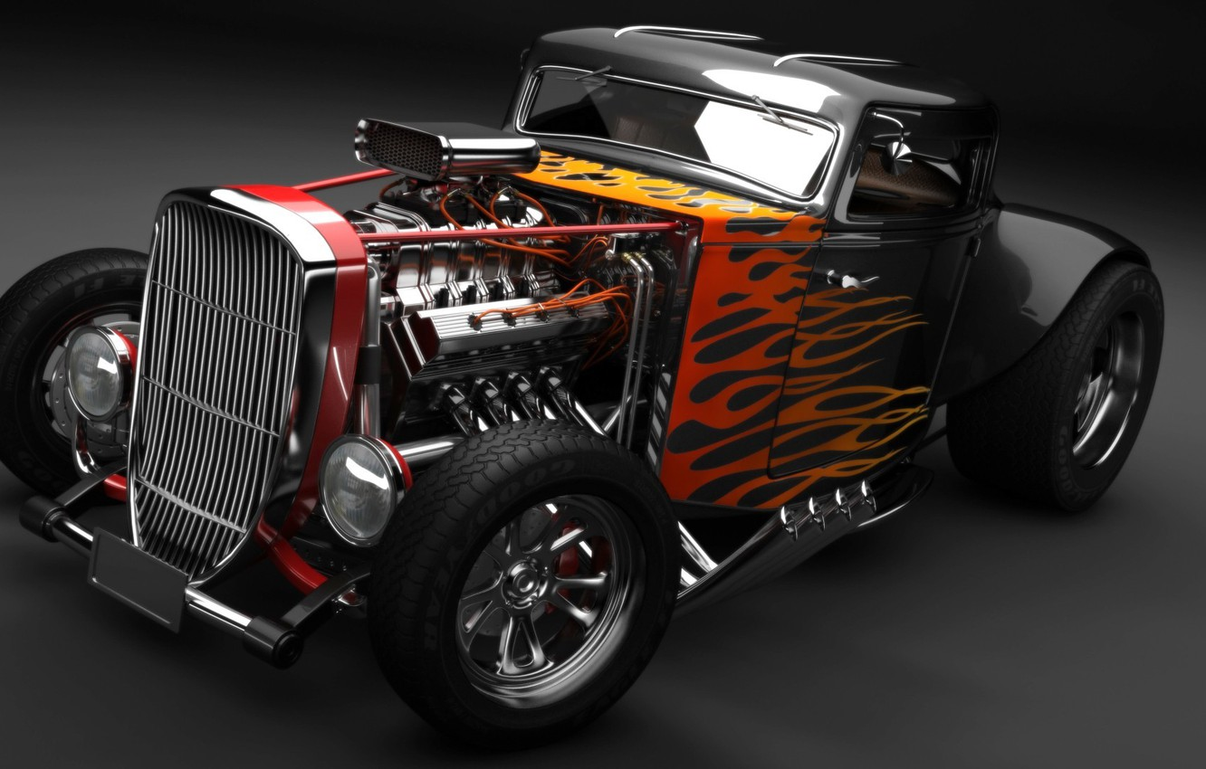 Wallpaper Engine Fire Flame Hot Rod Classic Car Images For