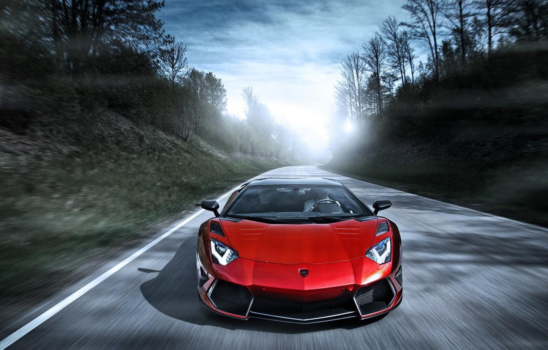 Photo wallpaper road, red, speed, Lamborghini, red, Blik, Lamborghini, LP700-4, Aventador, Lamborghini, aventador, Mansory, LB834