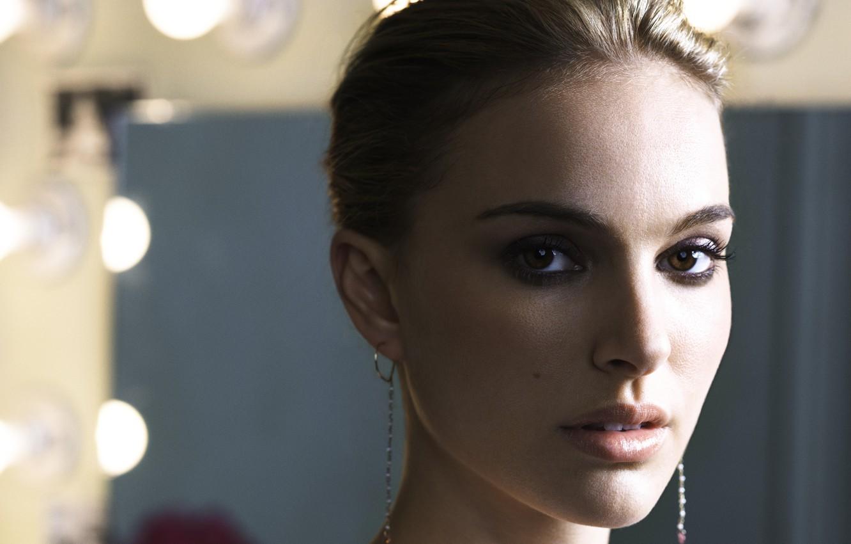 Photo wallpaper girl, Natalie Portman, black swan, beautiful eyes