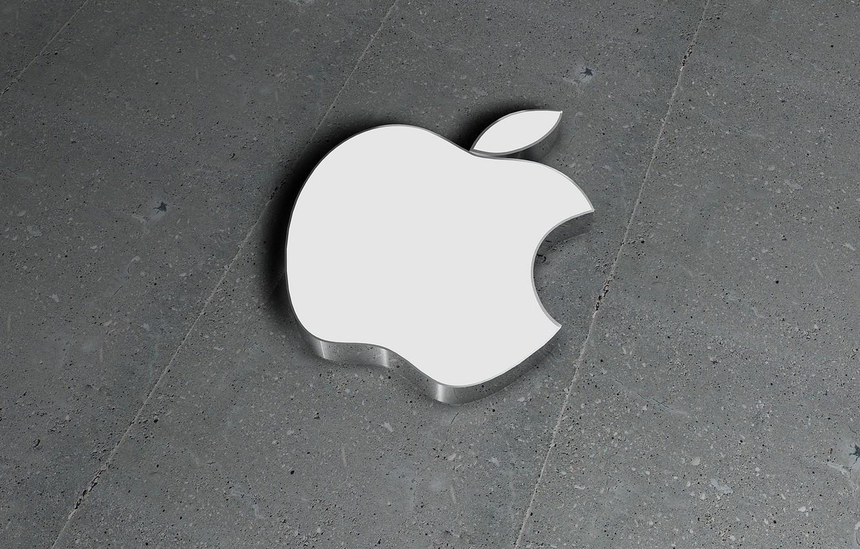 Photo wallpaper apple, logo, white, brand