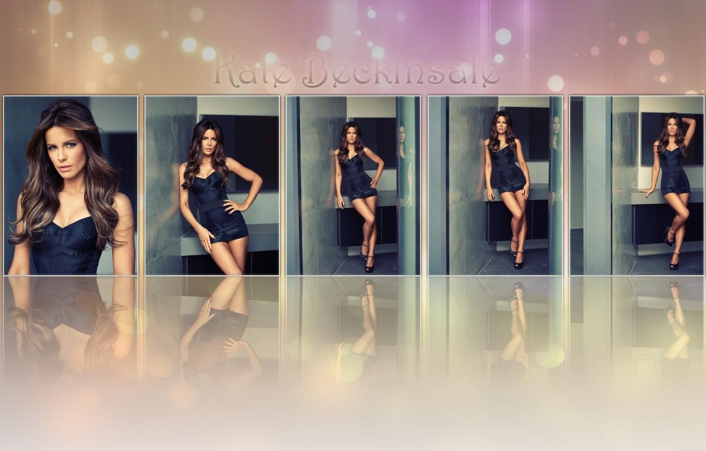 Photo wallpaper girl, face, reflection, hair, body, figure, actress, Kate Beckinsale, Kate Beckinsale, legs, beauty, inscription.background
