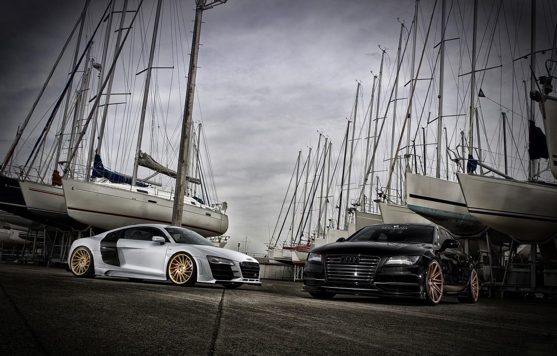 Photo wallpaper car, Audi, tuning, Audi, sports car, VOSSEN, Precision series