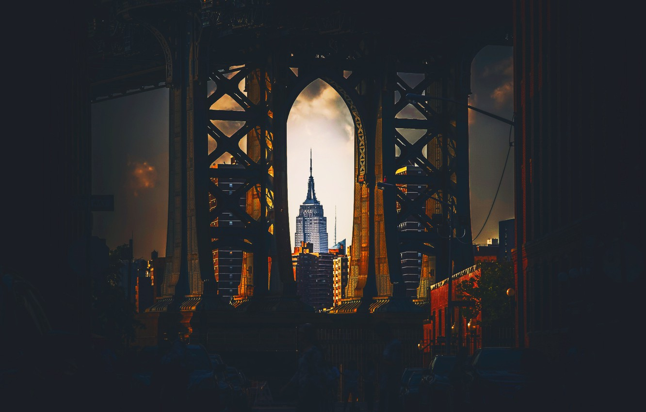 Photo wallpaper the city, USA, New York, The Empire State Building