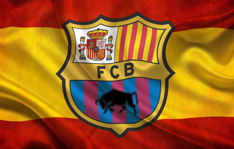 Photo wallpaper flag, Spain, Leopard, FC Barcelona