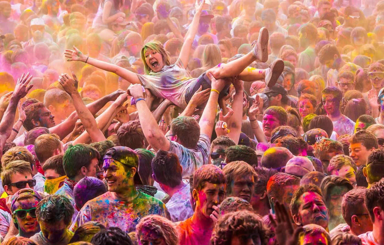 Photo wallpaper utah, festival of colors, salem