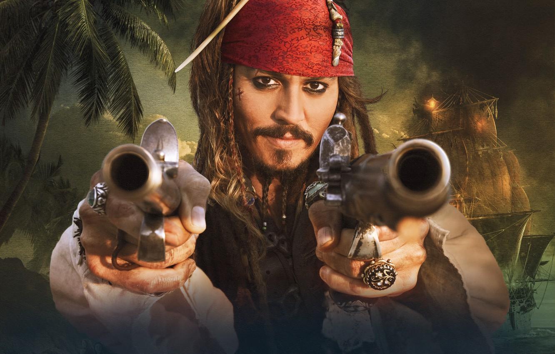 Photo wallpaper Sparrow, Pirates of the Caribbean, Jack, the banks, Strange