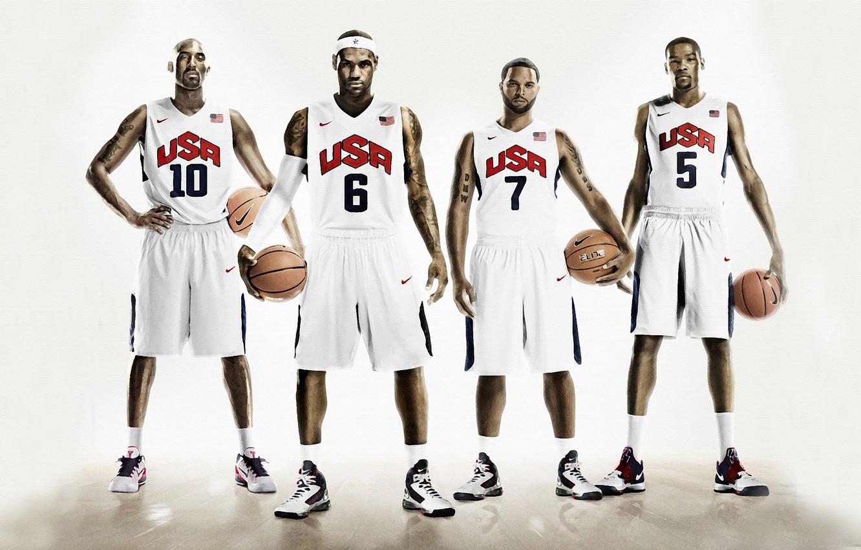Wallpaper Sport Basketball Usa Nike Lebron James Kobe Bryant Four Kevin Durant Deron Williams Images For Desktop Section Sport Download