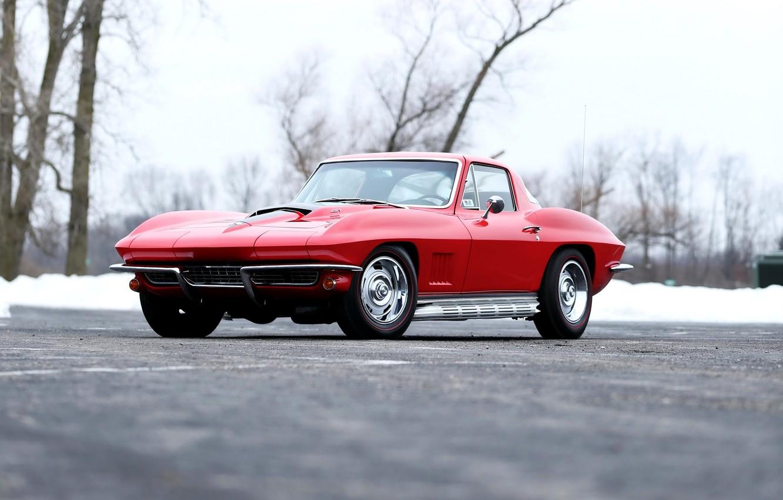 Photo wallpaper Corvette, Chevrolet, Chevrolet, Sting Ray, 1967, Corvette, 427/435 HP, L71