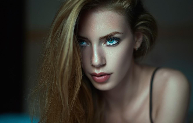 Photo wallpaper look, portrait, blue-eyed, Daniel Ilinca, Diana Dalban-2