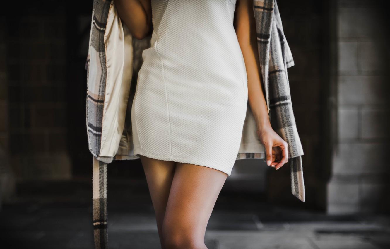 Photo wallpaper girl, style, feet, dress