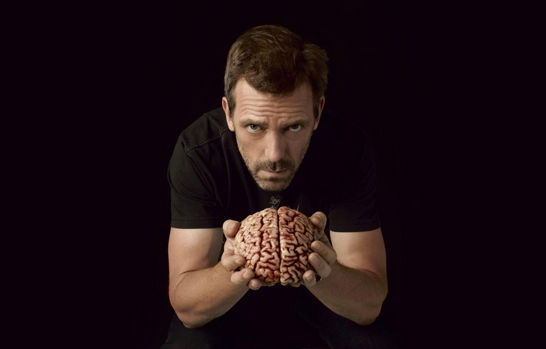 Photo wallpaper black, male, brain, Dr. House, peer