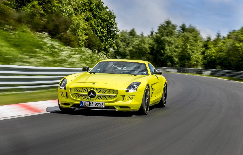Photo wallpaper Mercedes-Benz, AMG, SLS, Electro car, Electric car