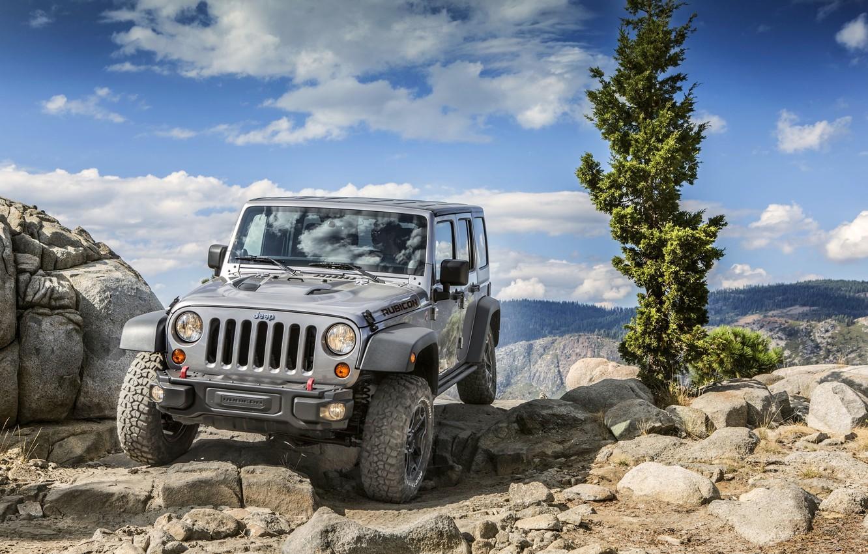 Photo wallpaper Nature, Stones, Jeep, SUV, Wrangler, Jeep, Rubic, Unlim, Wrangler