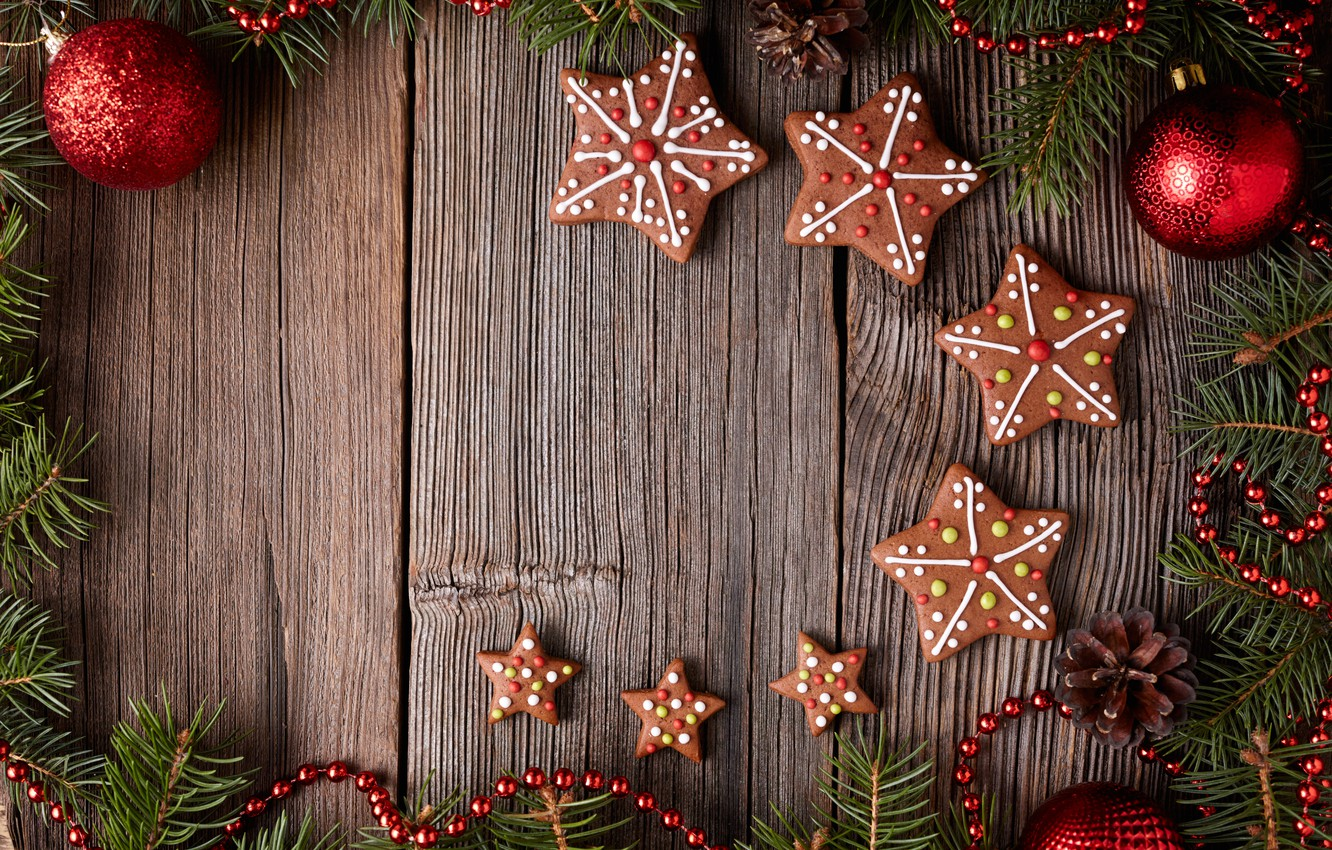 Wallpaper New Year, cookies, Christmas, Christmas, cakes, sweet ...