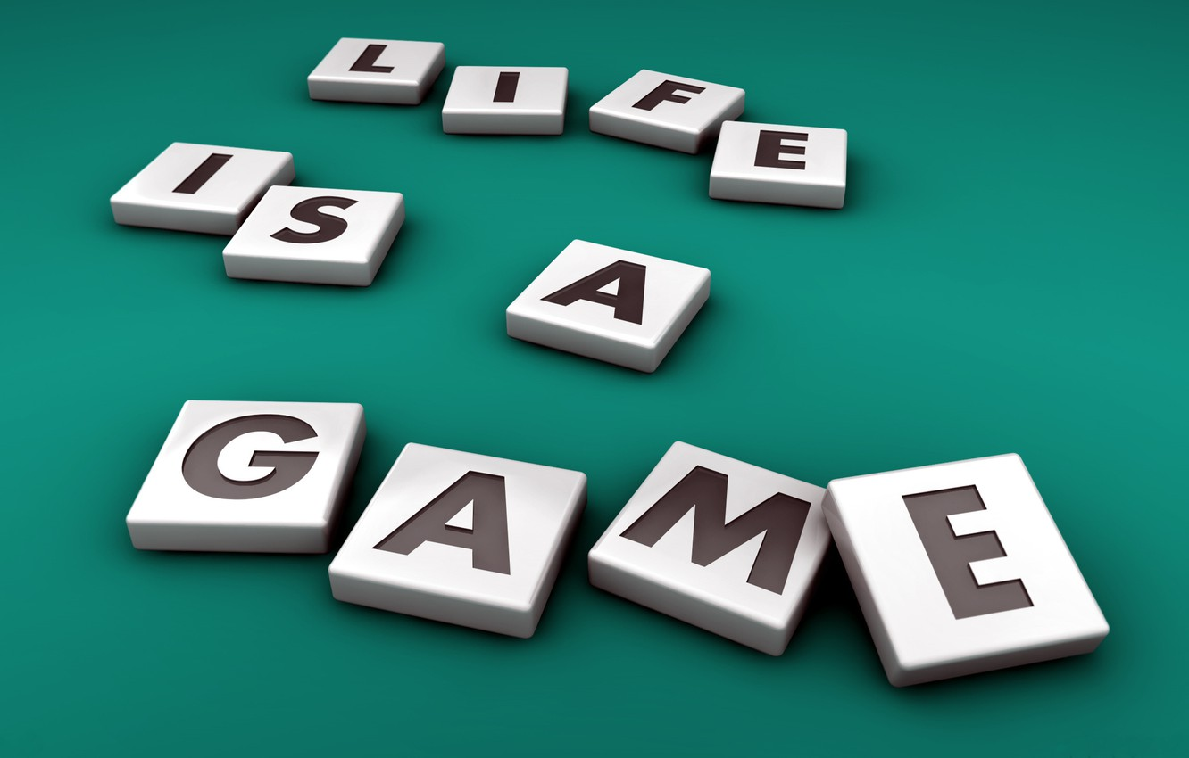 Photo wallpaper Background, Letters, Words, Life is a game, Life is a game