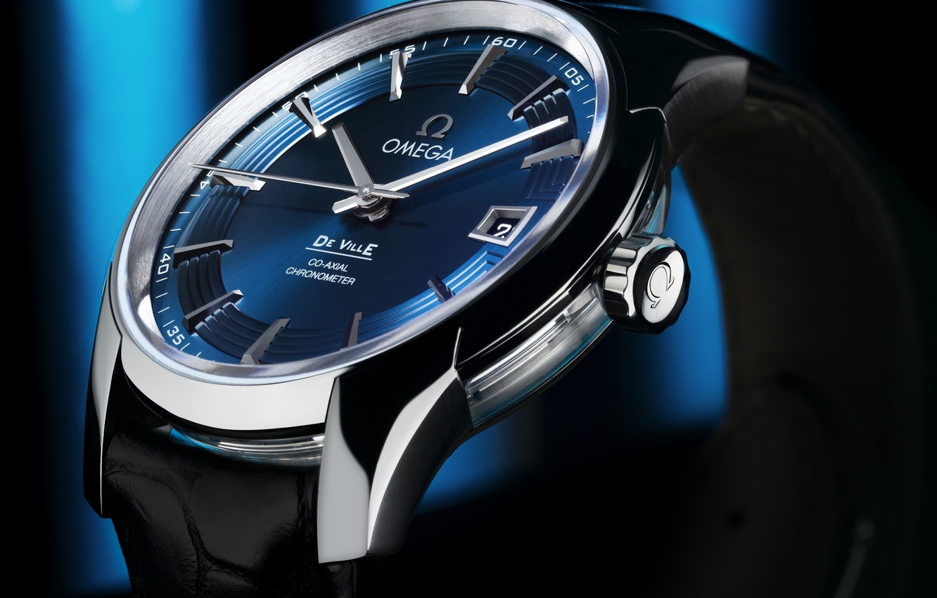 Photo wallpaper Omega, watch, quality