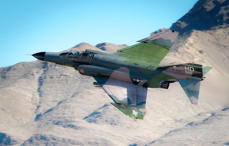 Photo wallpaper fighter, F-4, multipurpose, Phantom II, Phantom II