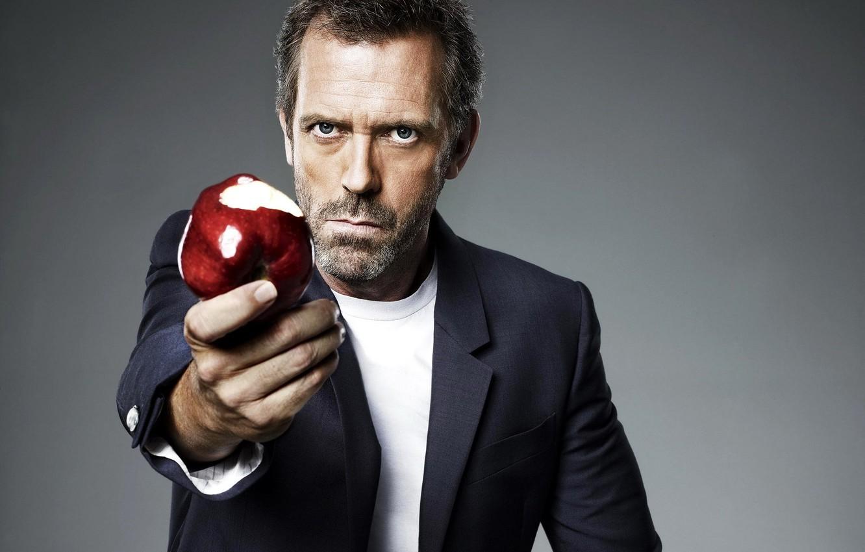 Photo wallpaper Apple, Hugh Laurie, House, Hugh Laurie
