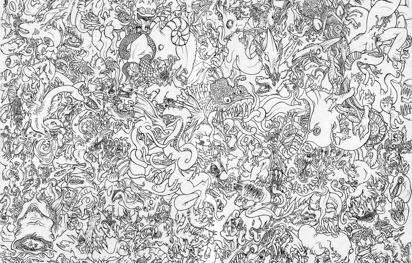Wallpaper Paper Pattern China Black And White Dragons Images