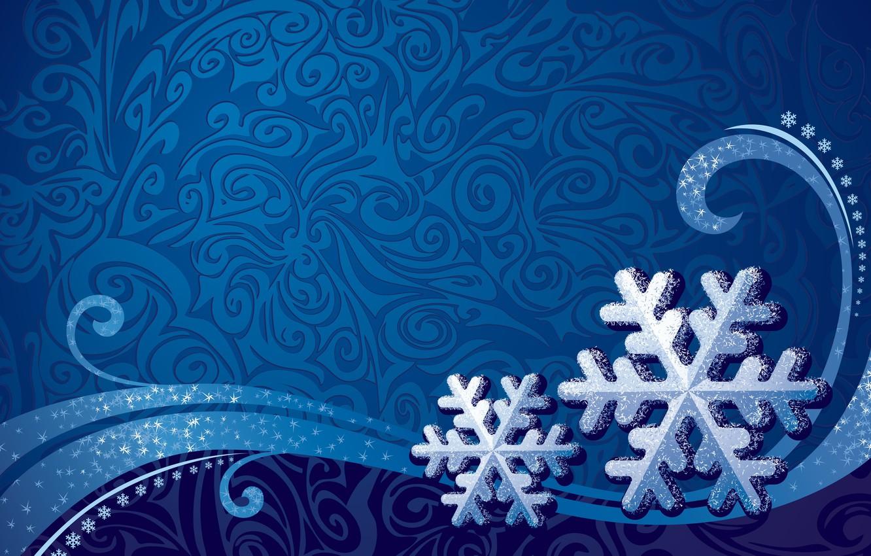 Photo wallpaper snowflakes, background, patterns, texture