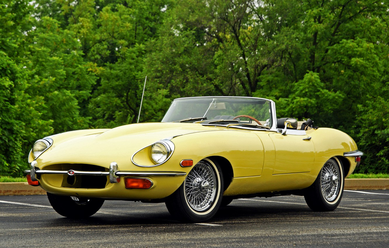 Photo wallpaper Jaguar, Jaguar, convertible, E-Type, 1968
