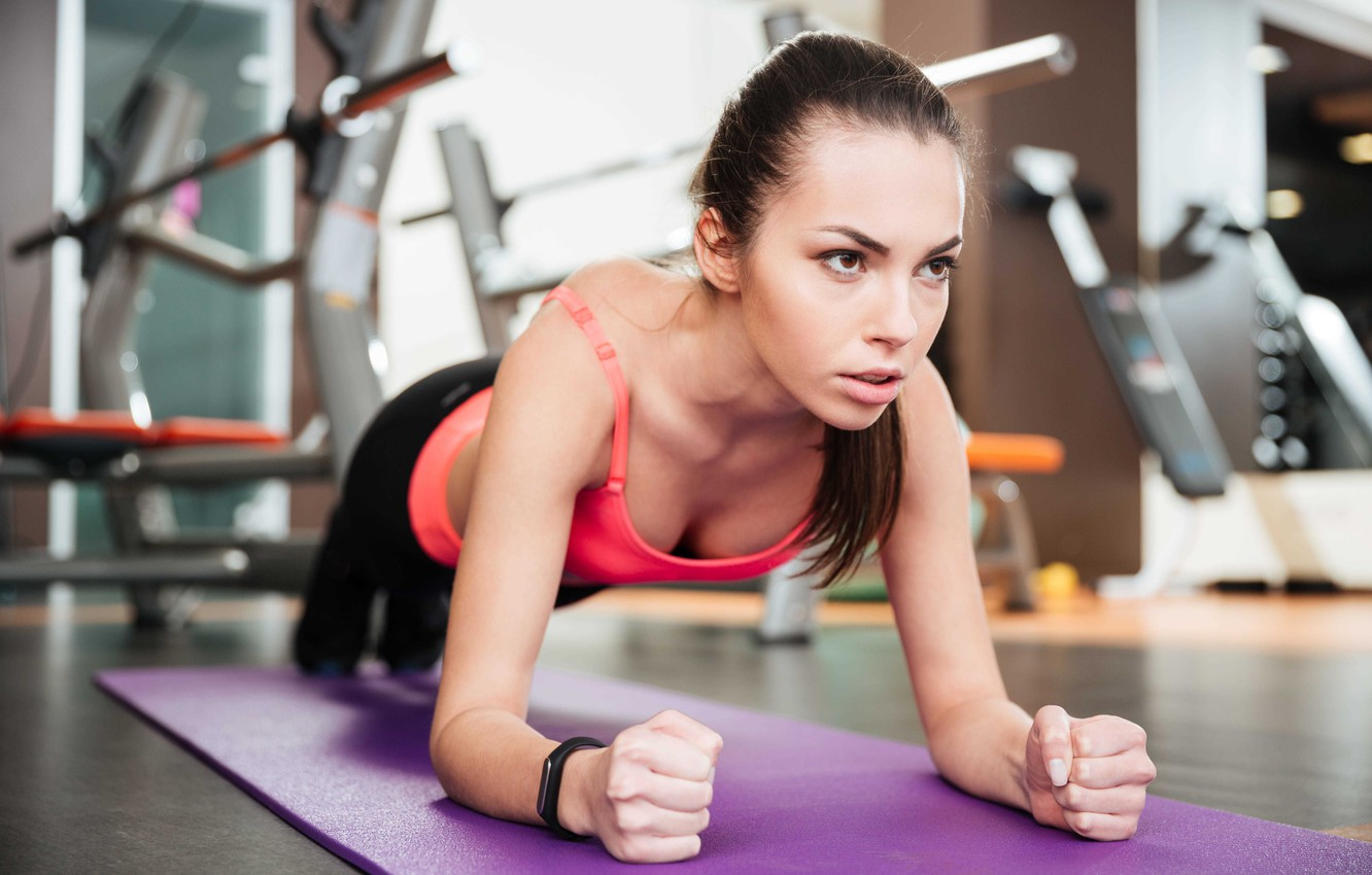 Photo wallpaper fitness, female, workout