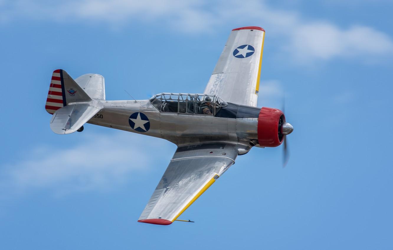 Photo wallpaper flight, North American, AT-6, Texan