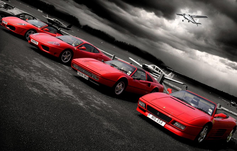 Photo wallpaper aircraft, Ferrari, Playground