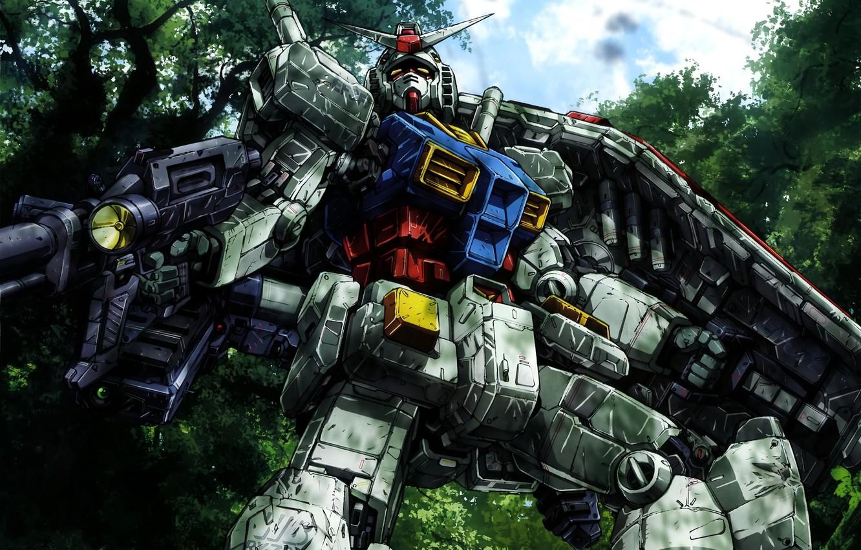 Photo wallpaper robot, anime, art, mobile suit gundam