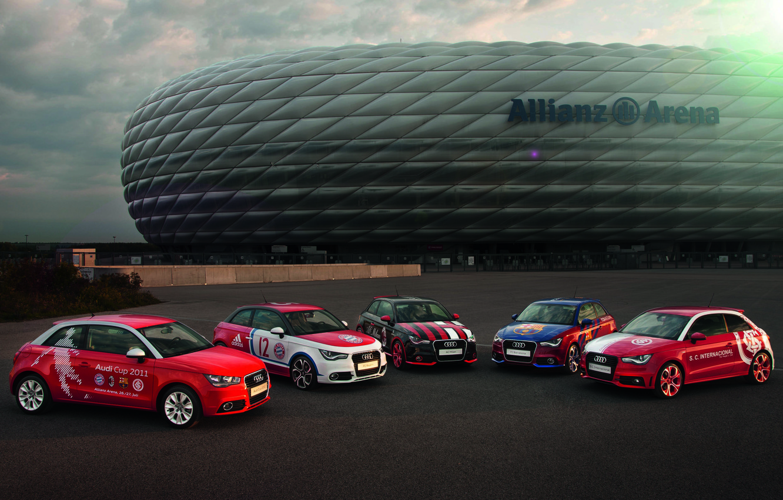 Photo wallpaper Audi, Audi, Machine, Allianz Arena, Allianz Arena, Audi Cup