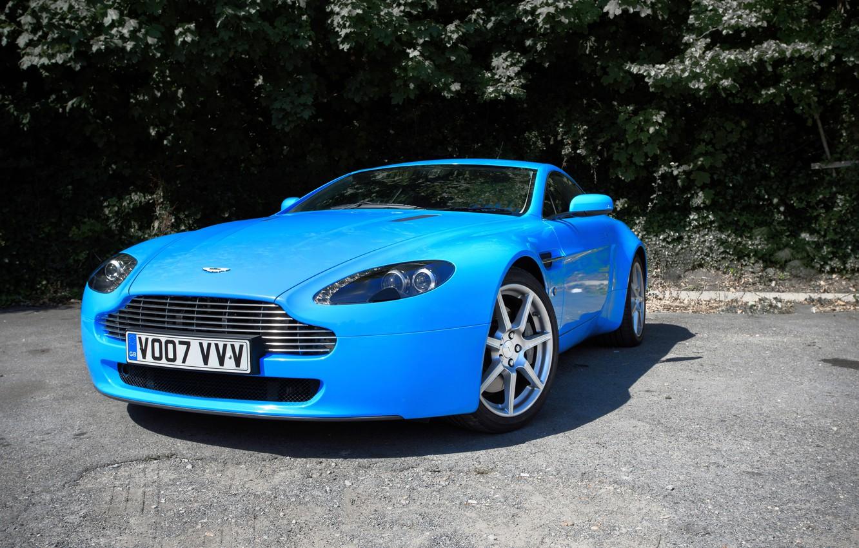 Photo wallpaper Aston Martin, Blue, Wrap, DB8