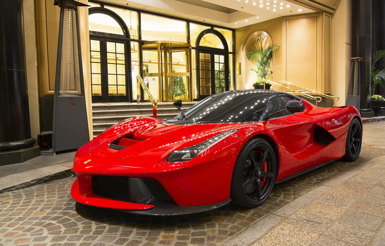Photo wallpaper red, Ferrari, sportscar, Ferrari LaFerrari