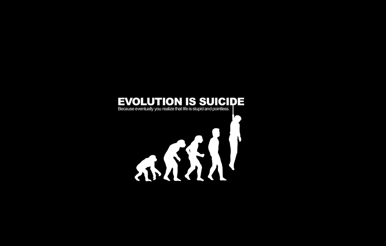 Photo wallpaper evolution, suicide, parody