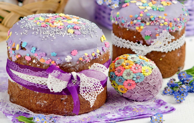 Photo wallpaper flowers, Easter, cake, cake, flowers, glaze, spring, Easter