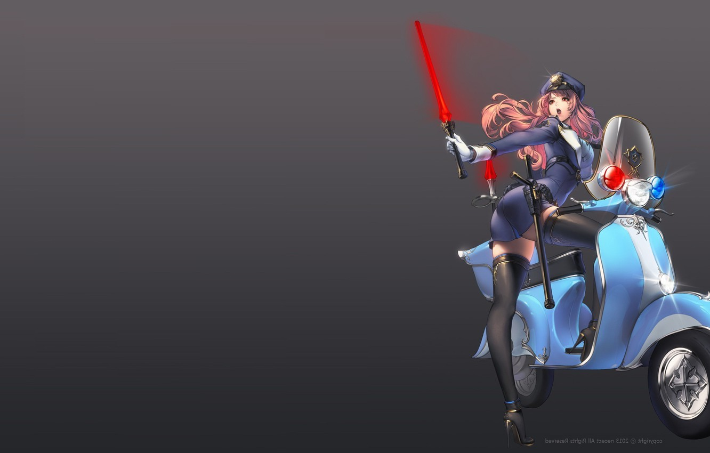 Photo wallpaper girl, the game, anime, art, motorcycle