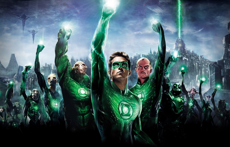 Photo wallpaper fiction, movie, superhero, green lantern, green lantern, ryan reynolds