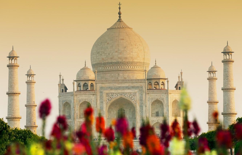 Photo wallpaper castle, India, monument, temple, Taj Mahal, The Taj Mahal, Agra, India, casstle, Uttar, Pradesh