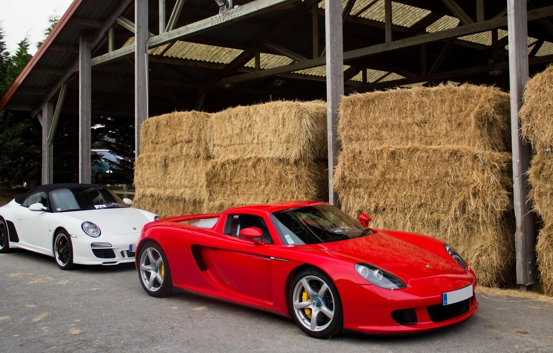 Photo wallpaper 911, Porsche, Red, Carrera, White, Supercars, Speedster