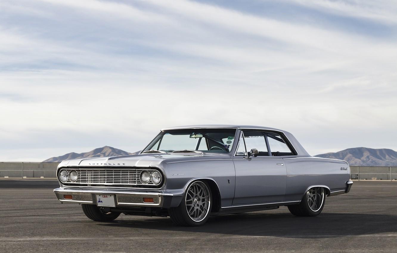 Photo wallpaper Chevrolet, 1964, Wheels, Malibu, Forgeline, DE3P