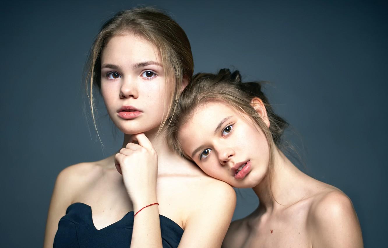 Photo wallpaper portrait, the beauty, Alexander Vinogradov, two girls